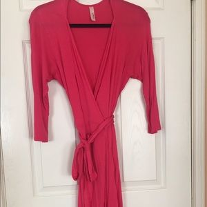 "Loveappella Dresses & Skirts - Nordstrom ""Loveappella"" Pink Wrap Dress"