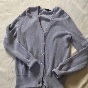 J Crew Ribbed Cotton Cardigan Sweater