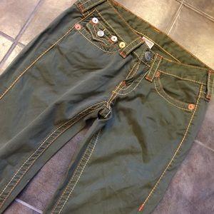 True Religion Pants - TRUE RELIGION Joey Big T Authentic Green Pants 27