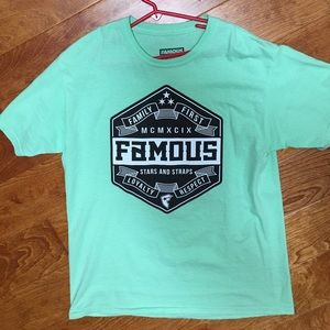 Famous Stars & Straps Other - Boys Famous brand Tee shirt! XL like new! Aqua!