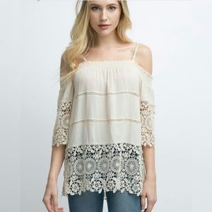 Tops - Medium off the shoulder lace detailed top
