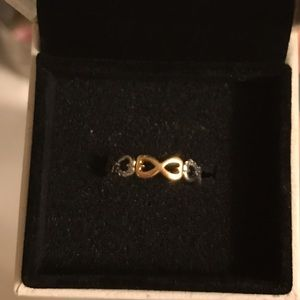 Pandora Infinity Love Stackable Ring, clear cz