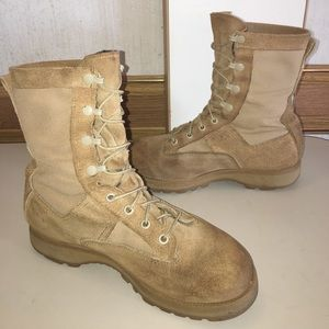 Vibram Other - MILITARY ISSUED DESERT STORM  BOOTS TAN STEEL TOE