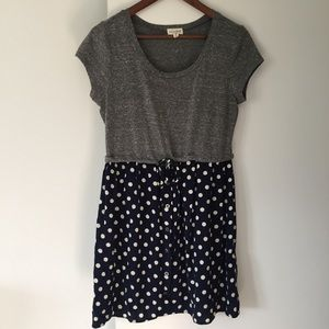 Maison Jules Dresses & Skirts - Maison Jules tee shirt & polka dot dress sz M