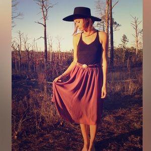 American Vintage Dresses & Skirts - • purple slip skirt •