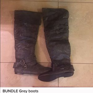 Gray over the knee boots-super cute