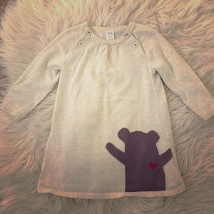 Nordstrom Baby Other - Nordstrom baby knit sweater dress with bear