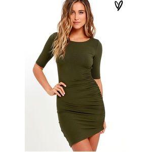 Lulu's Dresses & Skirts - Olive Green Bodycon Dress