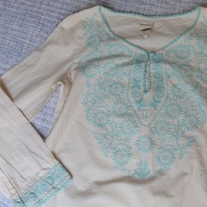 Natures Purest Tops - Boho Hand Embroidered Tunic