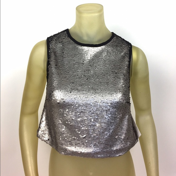 db419fe561a Stella Luce Sequin Crop Top Boutique