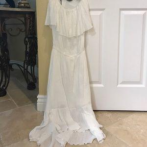 Elan Dresses & Skirts - NWOT Elan White High Low Strapless Dress