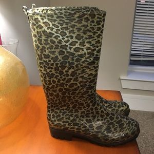 Capelli of New York Shoes - Leopard print rain boots
