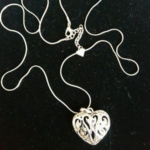 Cookie Lee Jewelry - Cookie Lee - Silver-toned Heart Necklace