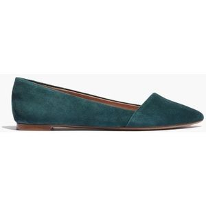 Madewell Mira Flats in forest green