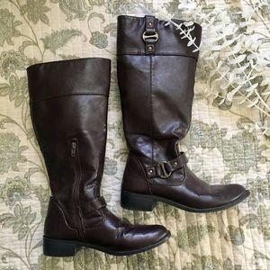Rampage Shoes - SALE Rampage • Dark Brown Vegan Leather Boots