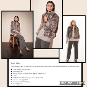 NIC + ZOE Jackets & Blazers - NIC+ZOE FAUX FUR JACKET