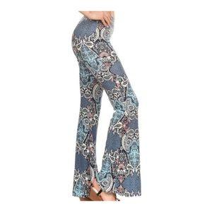 Pants - Last 1!  Flare Print Pants Large