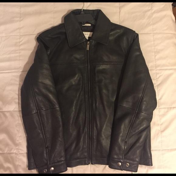 3ddcbf4db Perry Ellis Portfolio Lambskin Leather Jacket