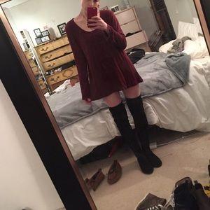 Brandy Melville Tops - Brandy Melville long sleeve burgundy shirt