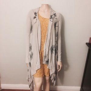 Anthropologie Sweaters - Anthropologie Floral Sketched Waterfall Cardigan