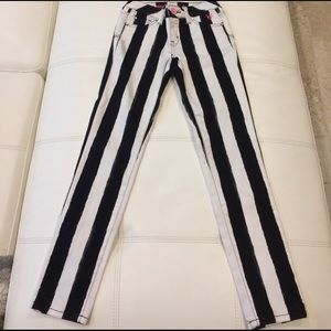 Justice Black white with silver accents jeans