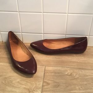 Wine colored madewell flats