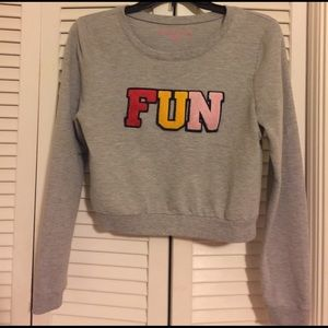 Rebellious One Tops - Crop FUN sweater