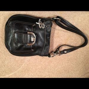 B Makowsky Handbags - B Makowsky Black Leather Shoulder Handbag