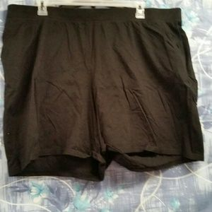 Just My Size Pants - Just My Size Black polyester Knit shorts