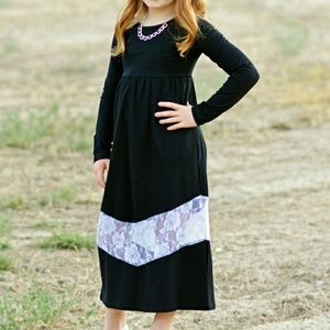 Other - Black Lace Maxi Dress