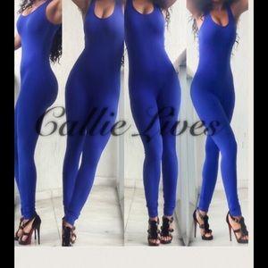 Callie Lives Pants - Royal Blue Catsuit Romper Jumper Jumpsuit Bodysuit