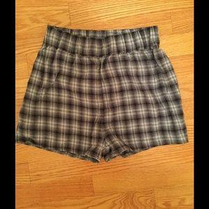Blue Plaid Brandy Melville Shorts