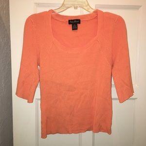 Orange Ashley Stewart Crop Top 2X Plus Size