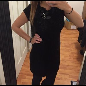 SWEATER SALE! Black Sweater Dress