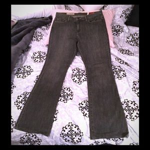 Express X2 Dark Wash Jeans Curvy W31 Flare Leg