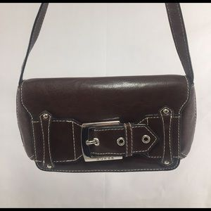 Guess Handbags - GUESS Brown Leather Mini Bag