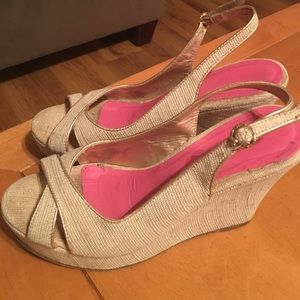 Lilly Pulitzer Shoes - LILLY PULITZER BURLAP WEDGES