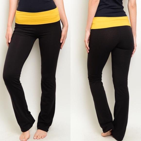 8ca2f1e0bf475 The O Boutique Pants   Clearance Black Mustard Active Yoga   Poshmark