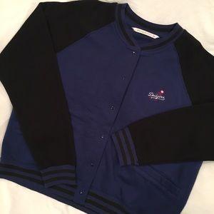 Antigua Jackets & Blazers - Los Angeles Dodgers Blu/Blk Varsity Jacket Size L