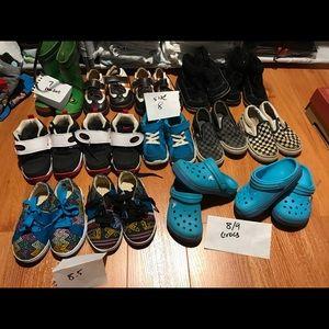 toms, crocs, keen, nike, various