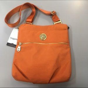 Baggallini Handbags - Baggalini Hanover Crossbody in Papaya NWT