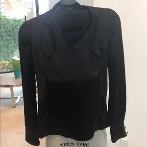 Tocca Tops - Black Silk Top size 0