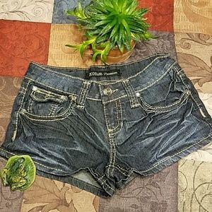 ZCO Pants - ZCO jean shorts with gem details