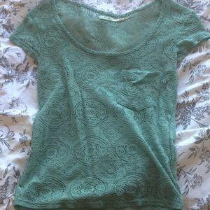 Lace kimichi blue shirt