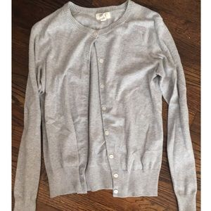 Lands' End grey cardigan