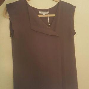Naked Zebra Tops - FINAL PRICE! Gray sleeveless work blouse