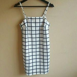 ASOS Dresses & Skirts - ASOS Black & White Blocked Pinafore Dress UK 8