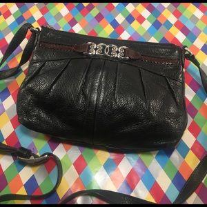Brighton Handbags - BRIGHTON Black and Brown Leather Crossbody