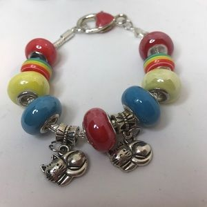 "Accessories - New Girls Euro Bracelet 7."" (Other colors avail)"