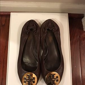 Tory Burch ballet flats brown leather